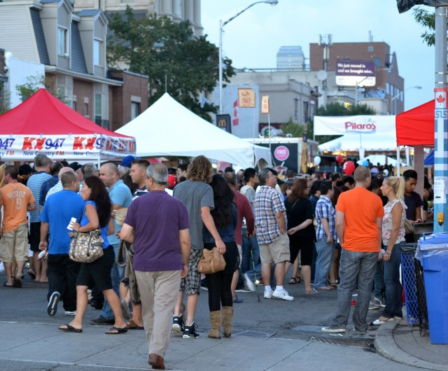 Friday night, Taste of the Danforth