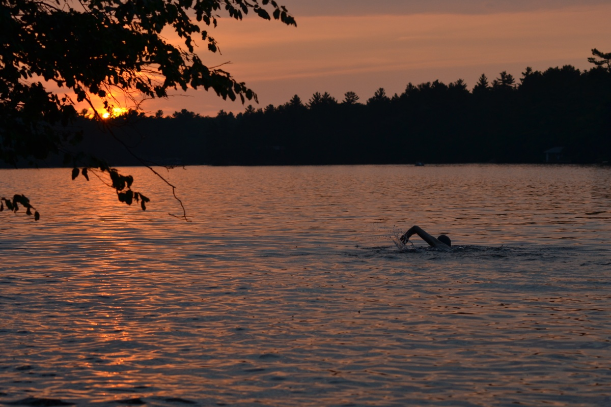 Sunset at the cottage